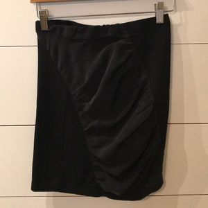 TopShop Black mini skirt with contrasting ruffle